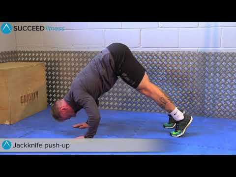 HOW TO: Jackknife push-up – A great exercise for the