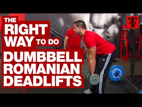 The Right Way to Do Dumbbell Romanian Deadlifts