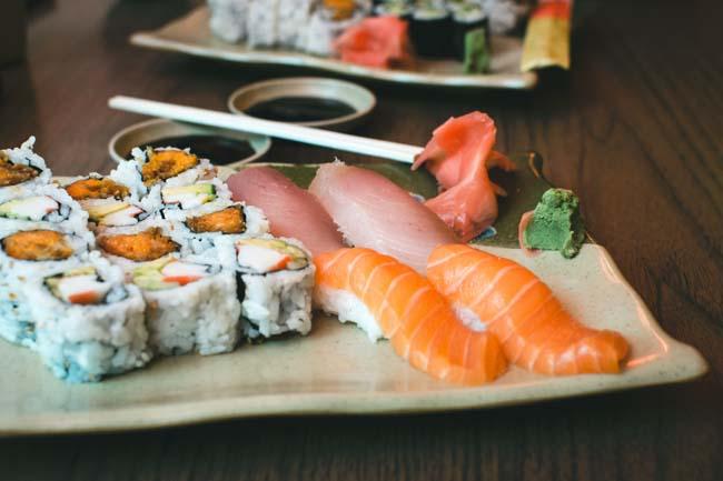 Sushi past goed bij een mannendieet