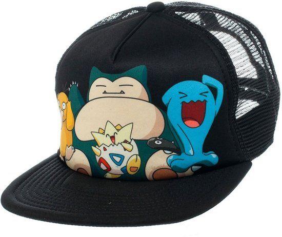 Voor de liefhebber: trucker caps van Pokémon.