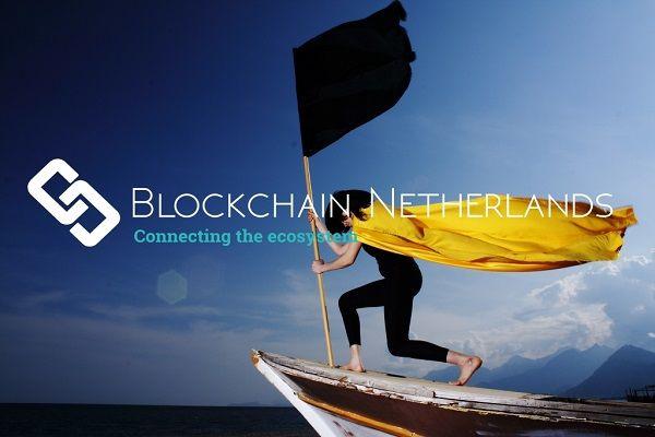 Dit is het logo van Stichting Blockchain Netherlands.