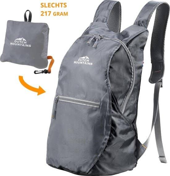 Hier zie je de beste backpack van Dutch Mountains: klein maar fijn, goedkoop en van topkwaliteit.