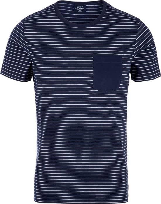 Dit t-shirt voor mannen van S.Oliver heeft een mooi design en een goede prijs.